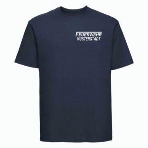 Feuerwehr T-Shirt navy blau