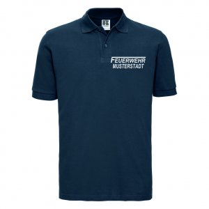 Feuerwehr Polo-Shirt navy blau