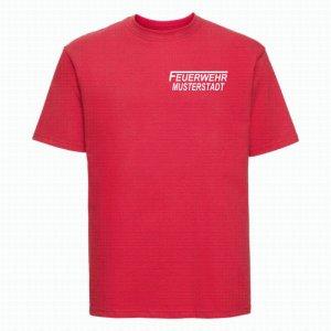 Feuerwehr T-Shirt rot