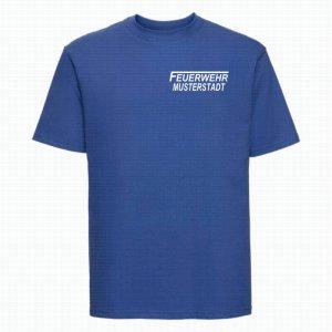 Feuerwehr T-Shirt royal blau