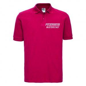 Feuerwehr Polo-Shirt rot